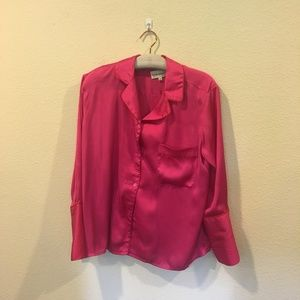 Rachel Antonoff pink button down blouse